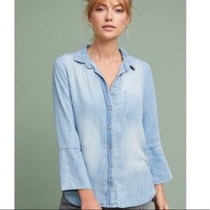 cloth and stone faded chambray button down XS